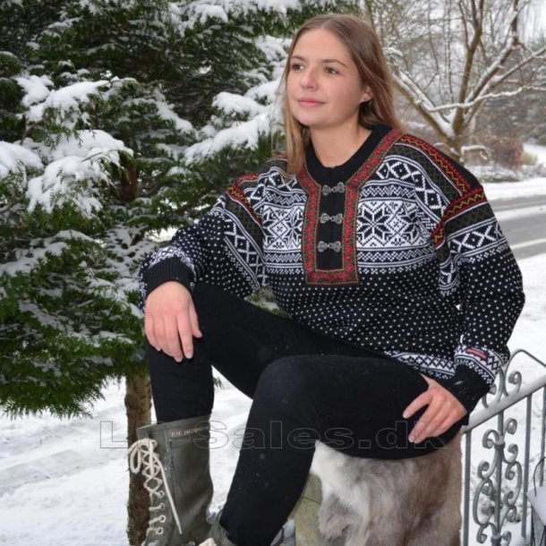 Norsk kamgarns striktrøje - 100% ren uld - Gjestal/Norwool