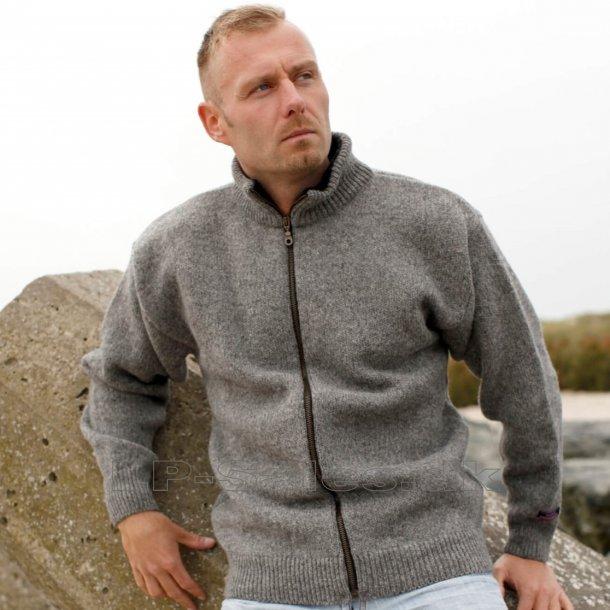 Norsk cardigan uldtrøje - grå - 100% ren ny uld - Norwool
