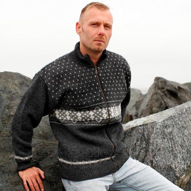 Norsk cardigan uldtrøje - koks - 100% ren ny uld - Norwool