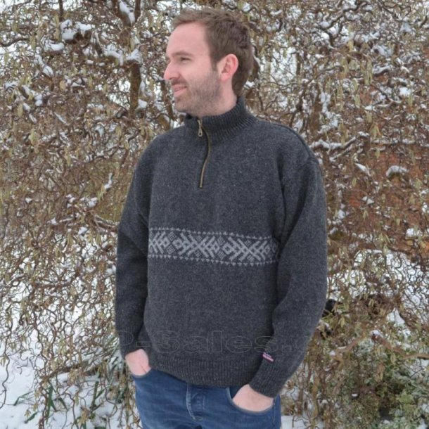 Norsk pullover - koks - 100% ren ny uld - Norwool