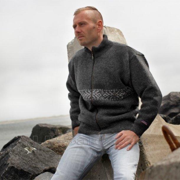 Norsk windstopper cardigan - koks - Norwool