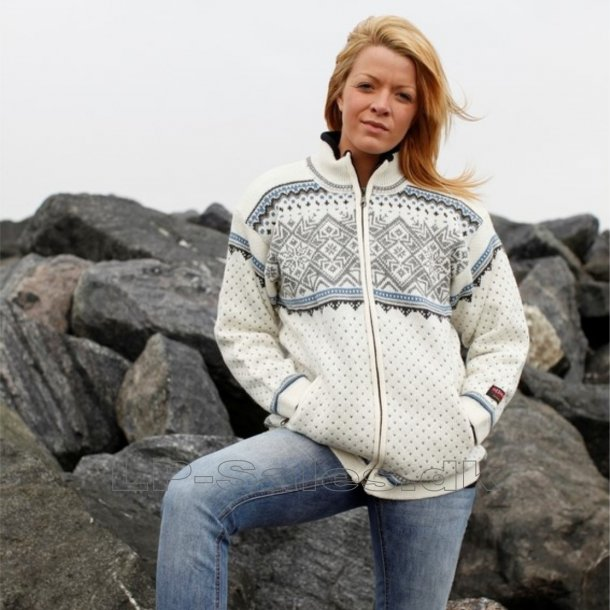 Norsk windstopper / windbreaker cardigan / jakke - lys - Gjestal exclusive