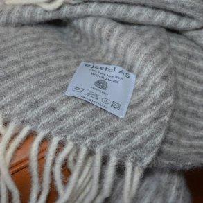 Uldplaid - 100% ren ny norsk uld