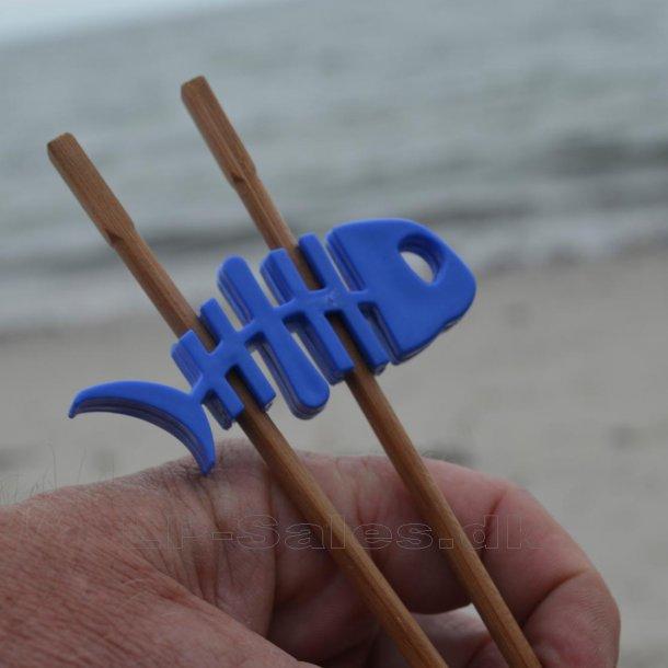 Choku Fish - spisepindeholder - blå