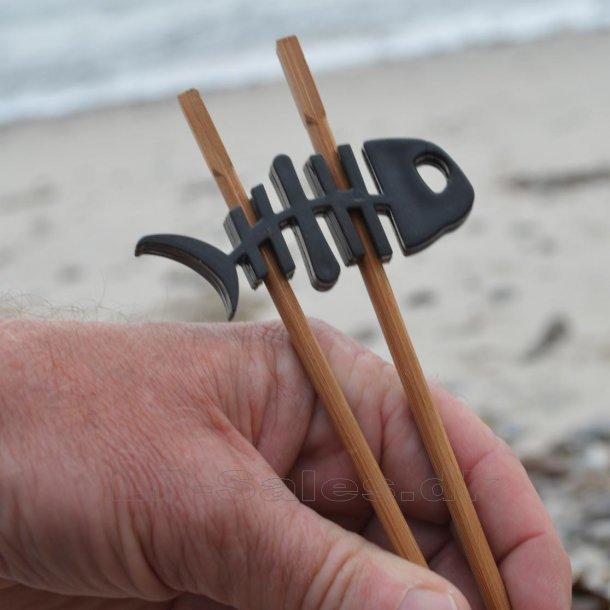 Choku Fish - spisepindeholder - sort