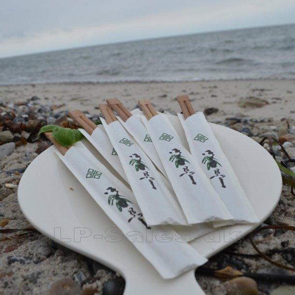 Bambus spisepinde - GIGANTKØB - 100 par - stk.-pris kun kr. 0.95/par