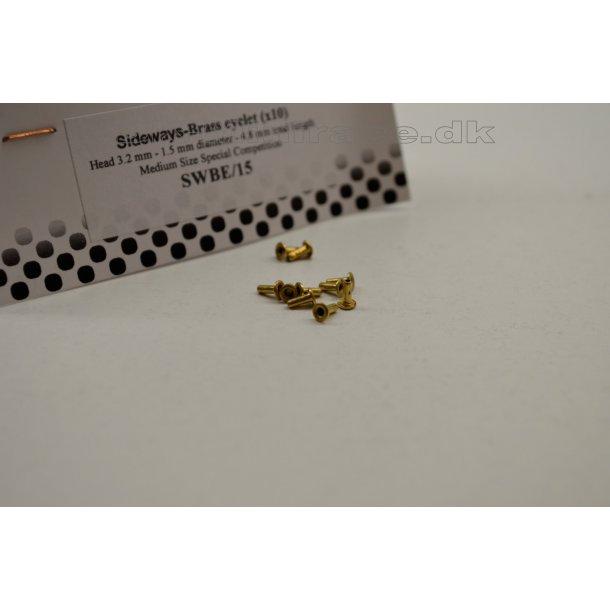 Brass eyelet, small - 3,2x1,5x4,8 - for ledning