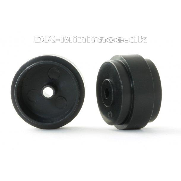 Hjul - Fælg - Plastic ø17.3x10x0.5 light wheels black 0.85g (4x) - slot.it