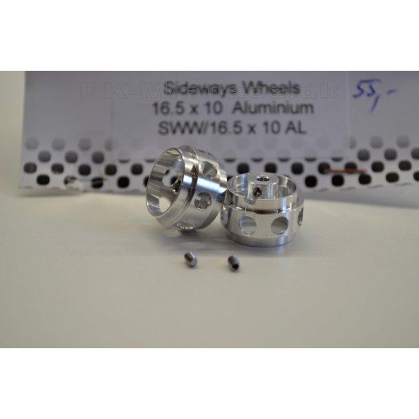 Hjul - Fælg - 16,5x10 aluminium