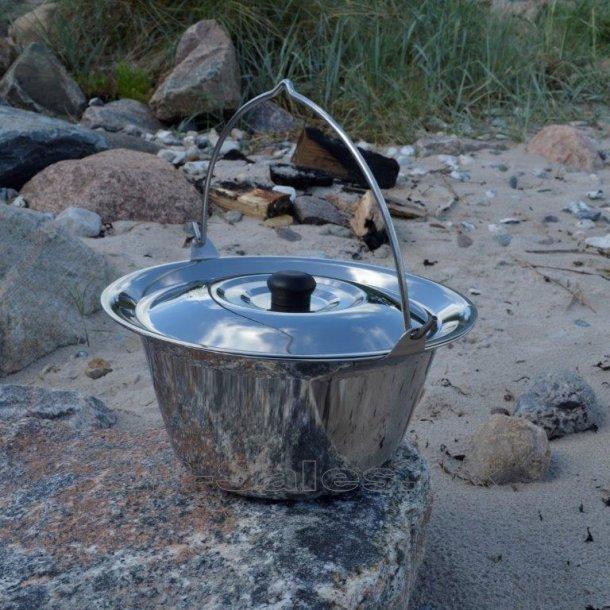 Rustfri gryde m. låg - 8 liter - Farmcook