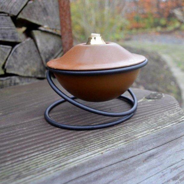 Oliepotte Ø12cm - rust-look - løs