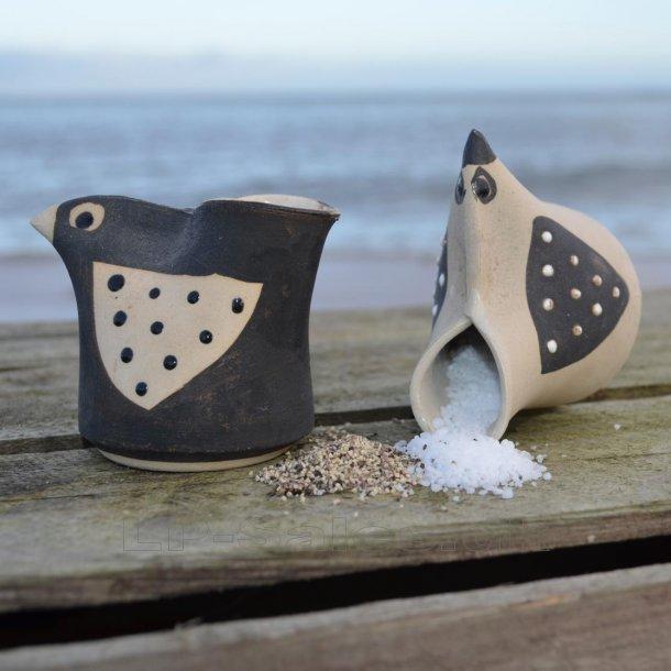 Saltbird - til salt og peber - sæt - Printz Keramik