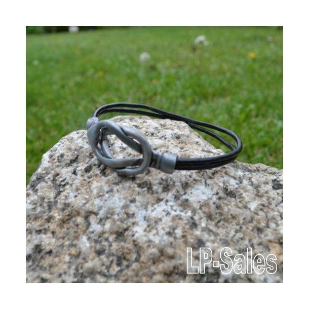 Læderarmbånd til ham - sort læder - LAM02