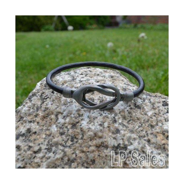 Læderarmbånd - sort læder - LA01