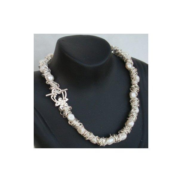 Mrs T-white elastic halskæde