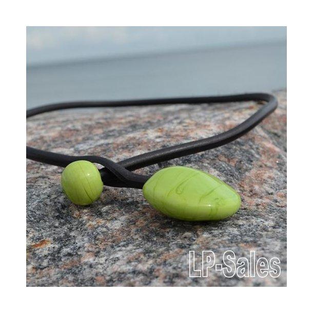 Halssmykke - modern - lime grøn - Nr 10