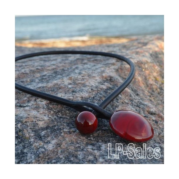 Halssmykke - modern - mørke rød - Nr 12