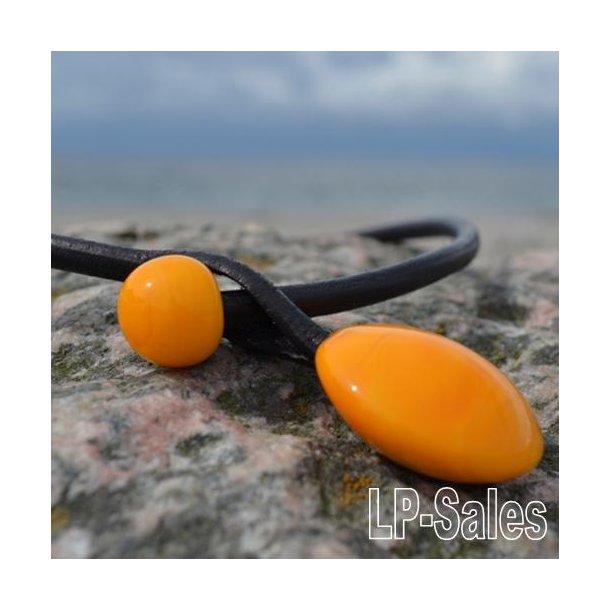 Halssmykke - modern - orange - Nr 04