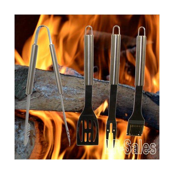 Grillværktøj - sæt med 4 dele