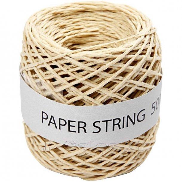 Papirsnor - natur - 50m